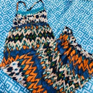 Cute Crochet & beaded maxi dress-Mossimo xs